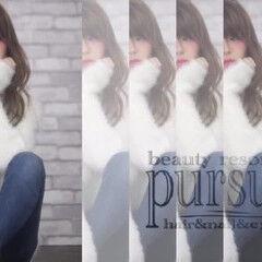 寝癖 かわいい 冬 フェミニン ヘアスタイルや髪型の写真・画像