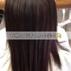 ナチュラル セミロング 縮毛矯正 髪質改善 ヘアスタイルや髪型の写真・画像