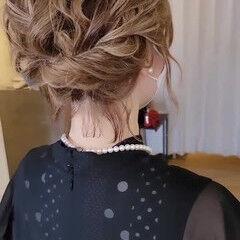 結婚式 結婚式ヘアアレンジ ボブ エレガント ヘアスタイルや髪型の写真・画像
