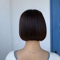 ミニボブ モテボブ モード まとまるボブ ヘアスタイルや髪型の写真・画像