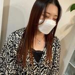 ヨシンモリ ロング 韓国ヘア オレンジカラー