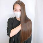 ナチュラル 髪質改善カラー ロング 髪質改善トリートメント