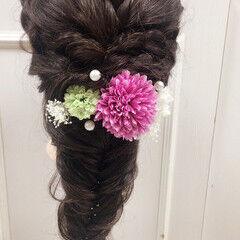 結婚式 ロング 二次会 ガーリー ヘアスタイルや髪型の写真・画像