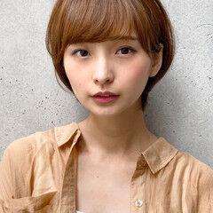 ナチュラル 大人女子 丸みショート ひし形 ヘアスタイルや髪型の写真・画像