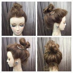 簡単ヘアアレンジ セミロング こなれ感 ヘアアレンジ ヘアスタイルや髪型の写真・画像