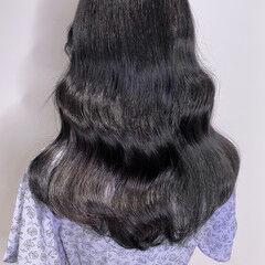 地毛風カラー 透明感カラー 韓国ヘア ナチュラル ヘアスタイルや髪型の写真・画像