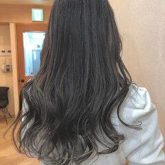 バレイヤージュ コンサバ アッシュグレージュ 外国人風カラー ヘアスタイルや髪型の写真・画像
