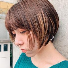 似合わせカット ショートボブ ショートヘア ナチュラル ヘアスタイルや髪型の写真・画像