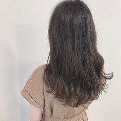 王道 ベージュ ロング シアーベージュ ヘアスタイルや髪型の写真・画像