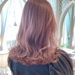 ナチュラル ブリーチ ラベンダーピンク ロング ヘアスタイルや髪型の写真・画像