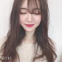 ナチュラル 韓国ヘア 韓国風ヘアー 無造作カール ヘアスタイルや髪型の写真・画像
