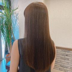 髪質改善トリートメント サラサラ ナチュラル ツヤツヤ ヘアスタイルや髪型の写真・画像