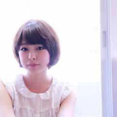 大人かわいい ショート 艶髪 ナチュラル ヘアスタイルや髪型の写真・画像