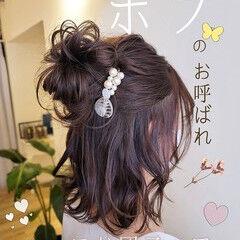 結婚式ヘアアレンジ 結婚式 フェミニン 結婚式アレンジ ヘアスタイルや髪型の写真・画像