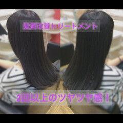 髪質改善カラー 髪質改善 ロング 髪質改善トリートメント ヘアスタイルや髪型の写真・画像