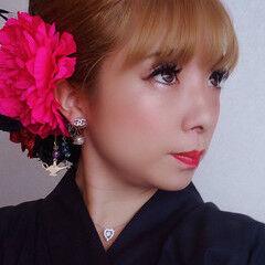 ヘアアレンジ 成人式ヘアメイク着付け ヘアメイク メイク ヘアスタイルや髪型の写真・画像