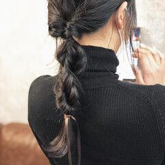 アンニュイほつれヘア ヘアアレンジ 編みおろしヘア ロング ヘアスタイルや髪型の写真・画像