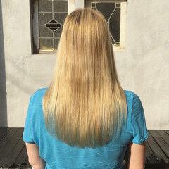 ロング 金髪 ナチュラル 外国人風カラー ヘアスタイルや髪型の写真・画像