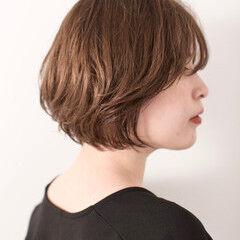 ショートヘア ショート ナチュラル ミニボブ ヘアスタイルや髪型の写真・画像