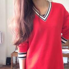 マルサラ レッド 大人かわいい ピンク ヘアスタイルや髪型の写真・画像