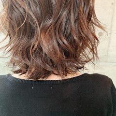 大人可愛い イルミナカラー 秋ブラウン フェミニン ヘアスタイルや髪型の写真・画像