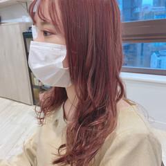 フェミニン ピンクベージュ ベリーピンク ラベンダーピンク ヘアスタイルや髪型の写真・画像