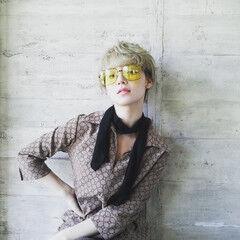 ベリーショート ショート ショートヘア 金髪 ヘアスタイルや髪型の写真・画像
