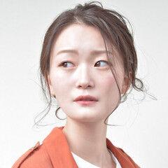 ヘアアレンジ セミロング 大人ロング ナチュラル可愛い ヘアスタイルや髪型の写真・画像