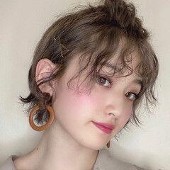 ミニボブ ショート 簡単ヘアアレンジ ショートアレンジ ヘアスタイルや髪型の写真・画像