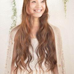 ロング 姫カット エクステ ガーリー ヘアスタイルや髪型の写真・画像