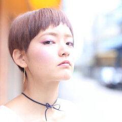ブラウンベージュ 透明感 ブラウン アプリコット ヘアスタイルや髪型の写真・画像