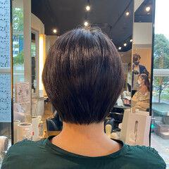 アンニュイほつれヘア 絶壁カバー ショート ハンサムショート ヘアスタイルや髪型の写真・画像