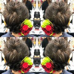 ヘアアレンジ 和装髪型 エレガント 成人式ヘア ヘアスタイルや髪型の写真・画像