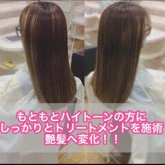 髪質改善カラー 髪質改善トリートメント 大人ロング うる艶カラー ヘアスタイルや髪型の写真・画像