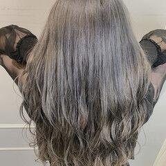 ロング ハイトーンカラー ブリーチ 外国人風カラー ヘアスタイルや髪型の写真・画像