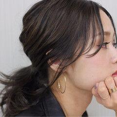 フレンチセピアアッシュ 大人女子 ストリート ミディアム ヘアスタイルや髪型の写真・画像