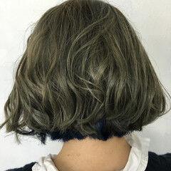 ストリート 外国人風 アッシュ ボブ ヘアスタイルや髪型の写真・画像