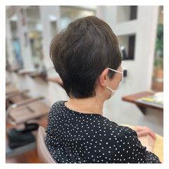 ナチュラル ショート 簡単スタイリング ショートヘア ヘアスタイルや髪型の写真・画像