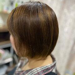 ミニボブ 切りっぱなしボブ ベリーショート ショート ヘアスタイルや髪型の写真・画像