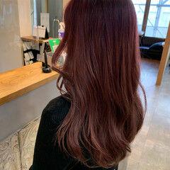 ダブルカラー ベリーピンク ブリーチ必須 韓国ヘア ヘアスタイルや髪型の写真・画像