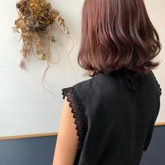 エレガント ピンクラベンダー ピンクパープル ピンクバイオレット ヘアスタイルや髪型の写真・画像