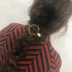 ロング ナチュラル ルーズ お出かけヘア ヘアスタイルや髪型の写真・画像