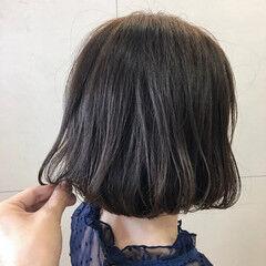 シンプルボブ フェミニン デニム ミニボブ ヘアスタイルや髪型の写真・画像