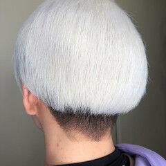 ホワイトアッシュ ホワイト ショート ストリート ヘアスタイルや髪型の写真・画像