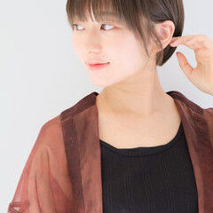 似合わせカット 簡単スタイリング ショートボブ ショートヘア ヘアスタイルや髪型の写真・画像