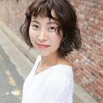 韓国ヘア パーマ ボブ 韓国風ヘアー