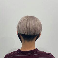 刈り上げ ショート ベージュ モード ヘアスタイルや髪型の写真・画像