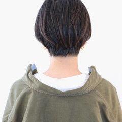 ベリーショート 黒髪ショート 地毛風カラー ショートヘア ヘアスタイルや髪型の写真・画像