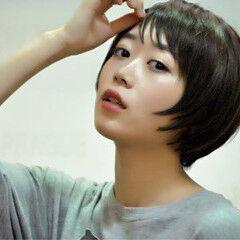 透明感 艶髪 シースルーバング シャギー ヘアスタイルや髪型の写真・画像
