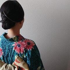 フェミニン 夏 セミロング 大人ヘアスタイル ヘアスタイルや髪型の写真・画像